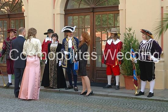 Свадьба в замке Добриш - костюмированная церемония