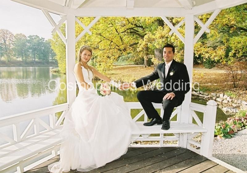 Свадьба в замке Штирин - беседка во Французском парке