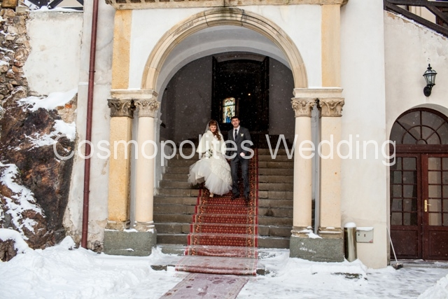Свадьба в замке Збирог - выход из часовни