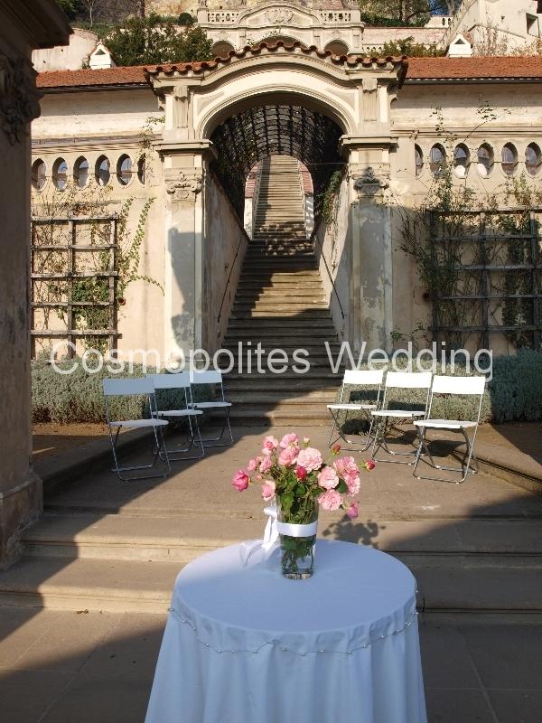 Свадьба во Дворцовых садах Праги