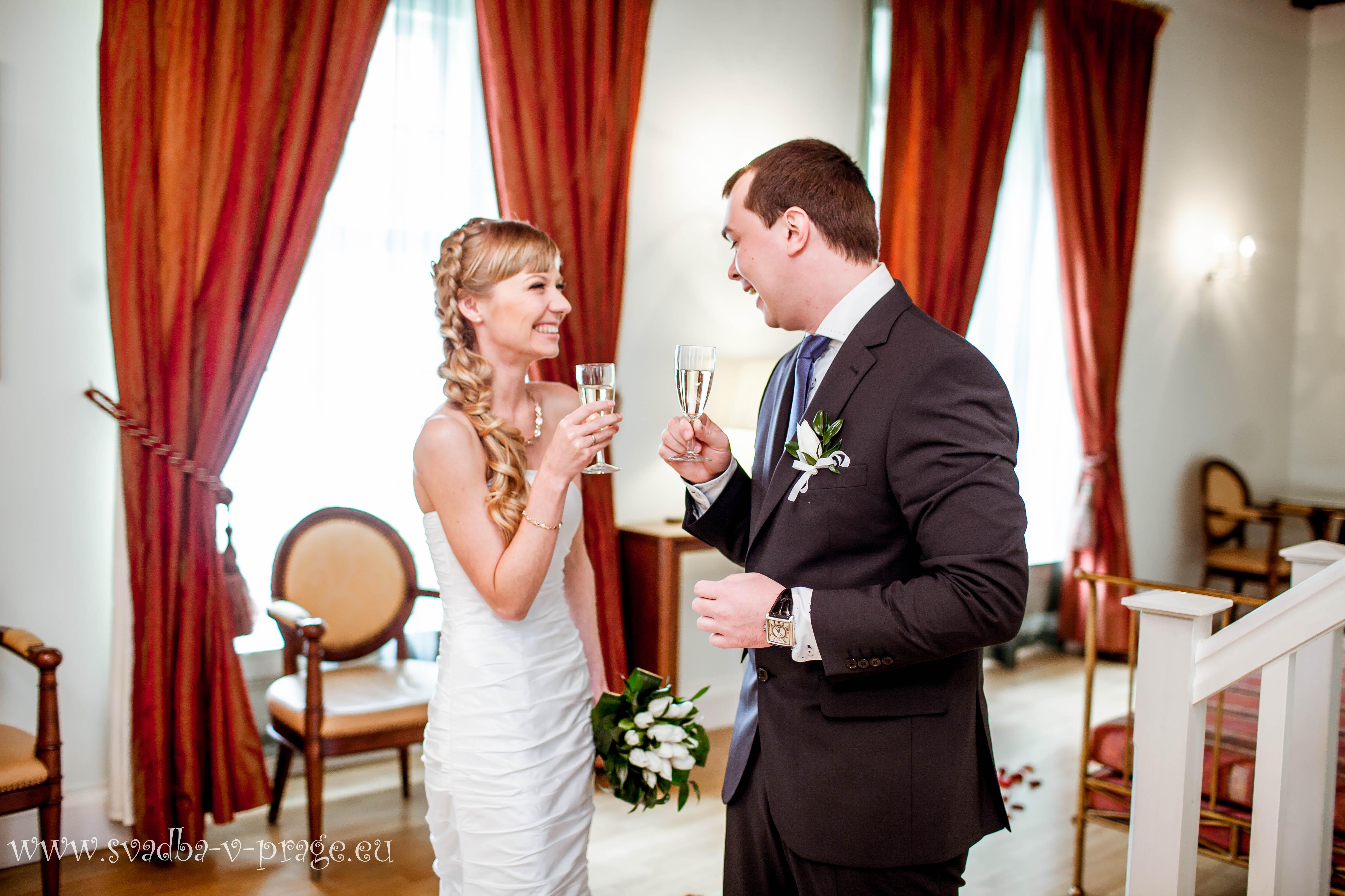 Свадьба Дмитрия и Киры — 4.6.2013 в Пахтове дворце в Праге - фото Свадьба в пражском Пахтове дворце
