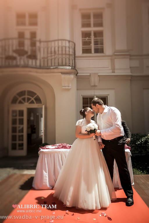Свадьба в Праге Дмитрия и Оксаны — 9.7.3013 в Пахтове дворце - фото Свадьба в Пахтове дворце