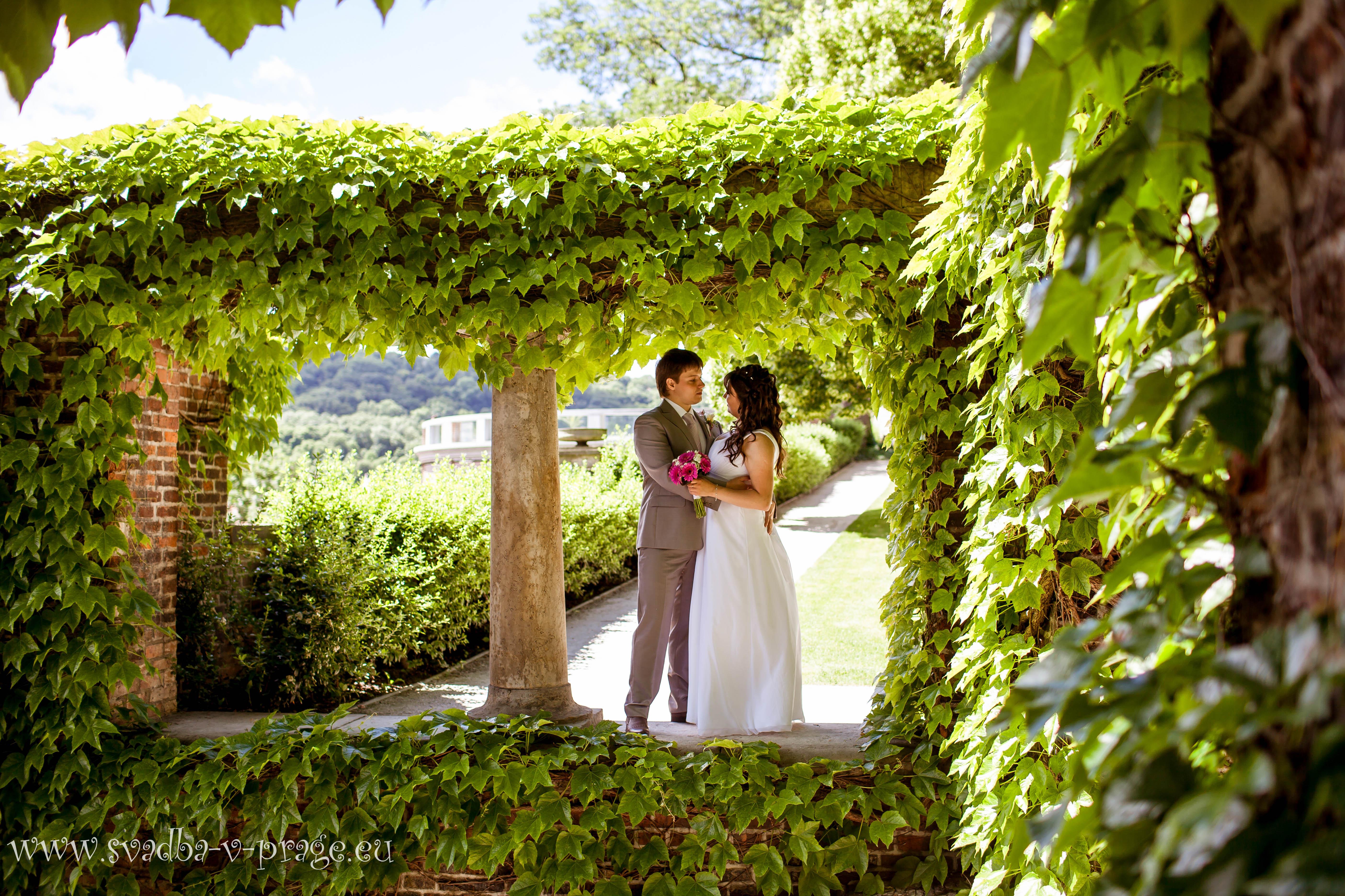 Свадьба в Праге Александра и Анастасии 14.6.2013 во дворце Алипранди - фото Свадьба в Праге