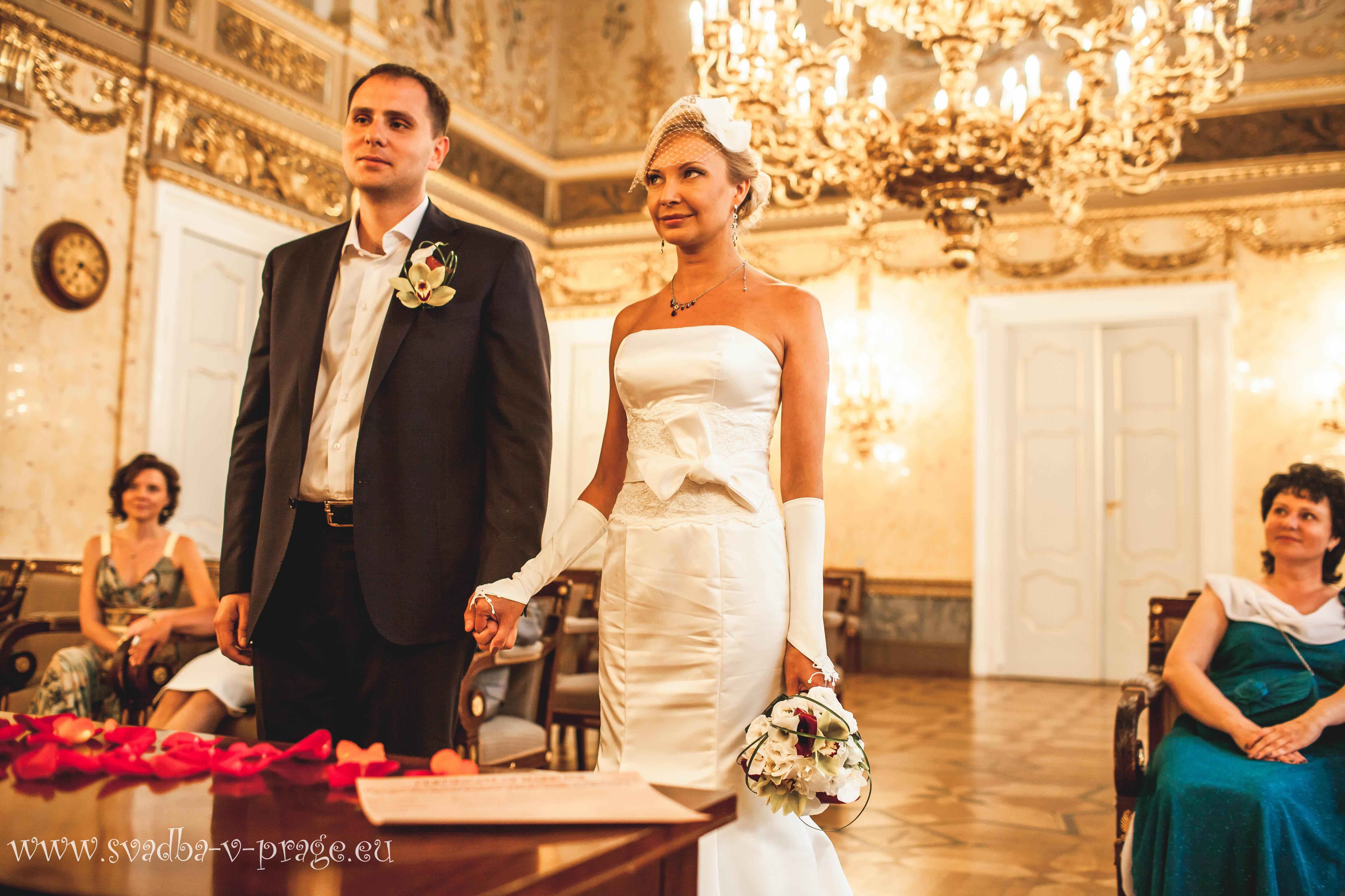Символическая свадебная церемония Карена и Полины в Кауницком дворце 11.7.2013 - фото Свадьба в Кауницком дворце
